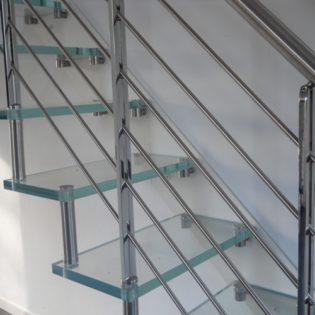 Scala mono fascia vetro